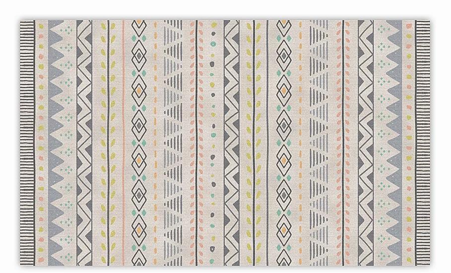 Jordan - Vinyl Floor Mat - Colorful ethnic pattern
