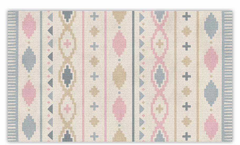 Tal - Vinyl Floor Mat - Colorful graphic pattern