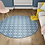 Thumbnail: Round Andrea - Vinyl Floor Mat - Blue Spanish tiles pattern