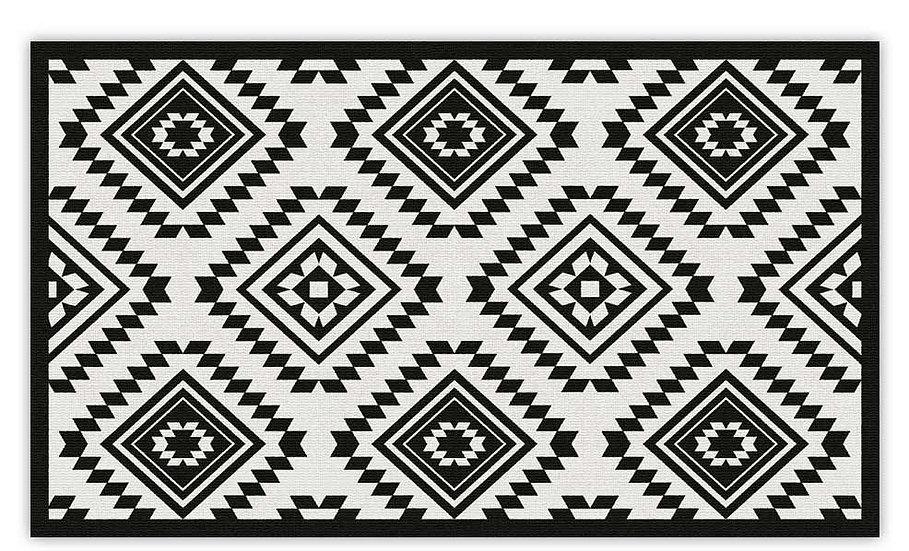 פיויסי עבה קזבלנקה שחור לבן - במגוון מידות החל מ