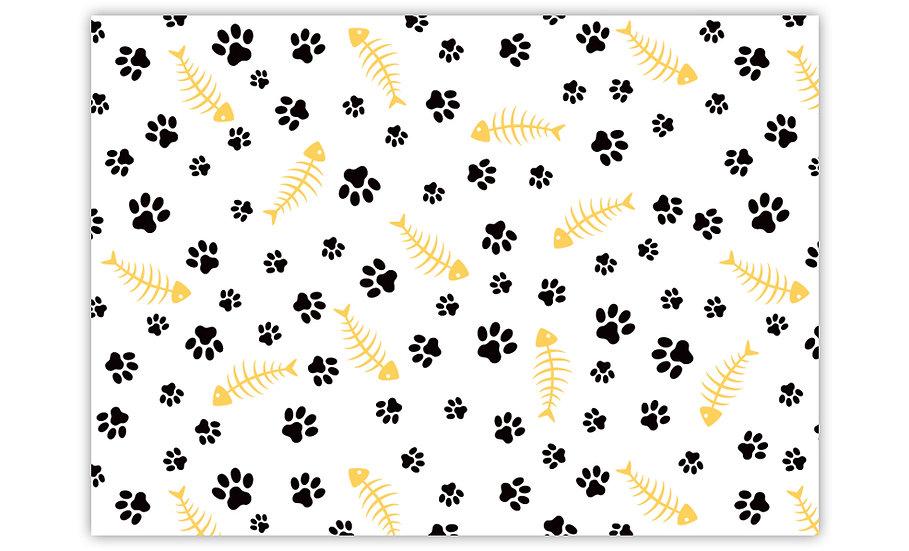 שטיח לחיות מחמד עצם דג צהוב - במגוון מידות