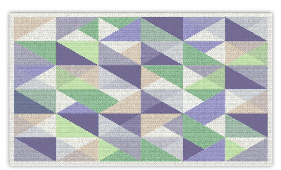 Triangles - Vinyl Floor Mat - Purple graphic pattern