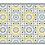 Thumbnail: Morocco - Vinyl Floor Mat - Gray and yellow Moroccan tiles pattern