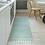 Thumbnail: Willow - Vinyl Floor Mat - Turquoise graphic pattern