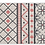 Thumbnail: Almond - Vinyl Floor Mat - Pink geometric pattern