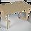 "Thumbnail: שולחן עץ מודפס - דגם קאריה ורונה בז' 118/74 ס""מ"
