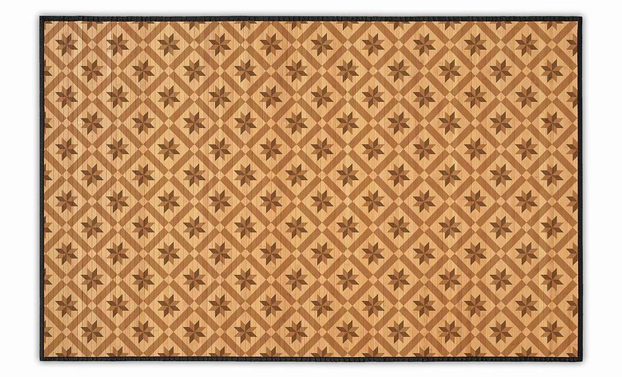 Wood Flowers - Bamboo Mat - Natural geometric pattern