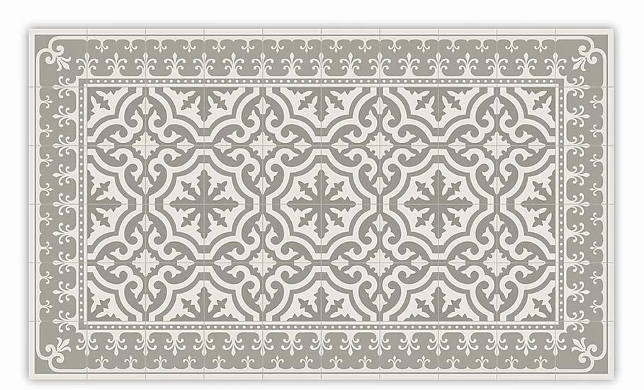 Tuscany - Vinyl Floor Mat - Beige classic tiles pattern