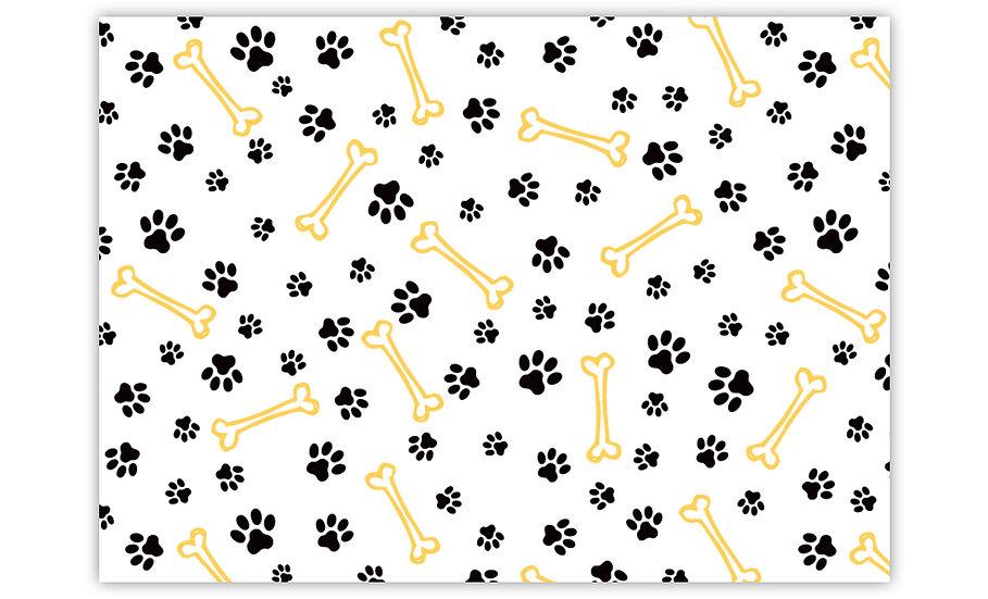 שטיח לחיות מחמד עצם כלב צהוב - במגוון מידות