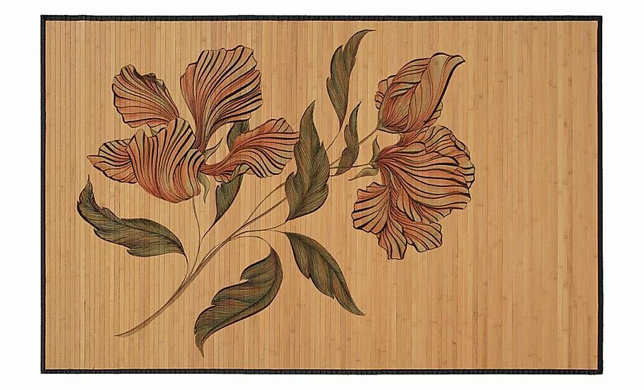 Hibiscus - Bamboo Mat - Romantic botanical pattern