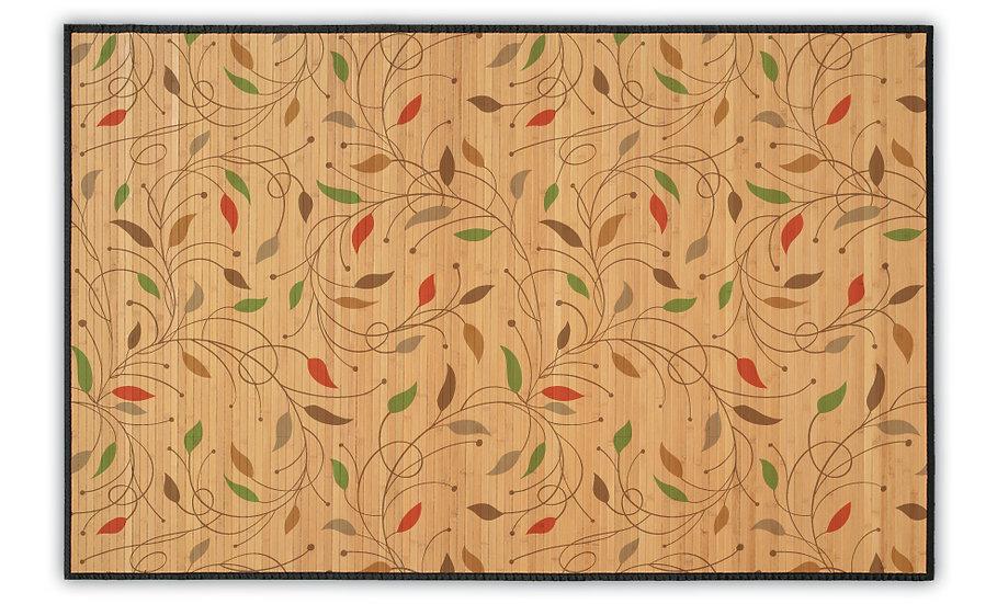 July - Bamboo Mat - Colorful botanical pattern