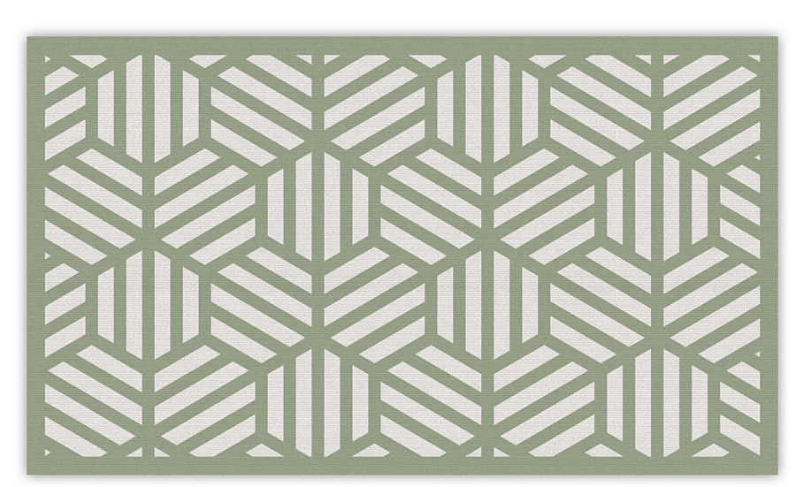 Soho - Vinyl Floor Mat - Green graphic pattern