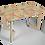 "Thumbnail: שולחן עץ מודפס - דגם קאריה רטרו צבעוני 118/74 ס""מ"