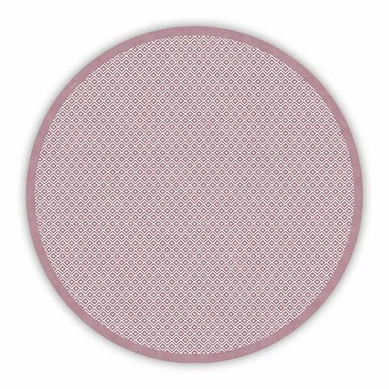 Round Margo - Vinyl Floor Mat - Pink graphic pattern