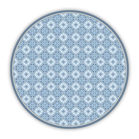 פיויסי עגול אנדריאה כחול - במגוון מידות