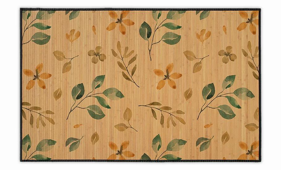 Gilboa - Bamboo Mat - Colorful botanical pattern