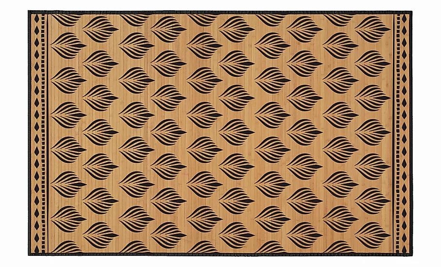 Tamarind - Bamboo Mat - Natural ethnic pattern