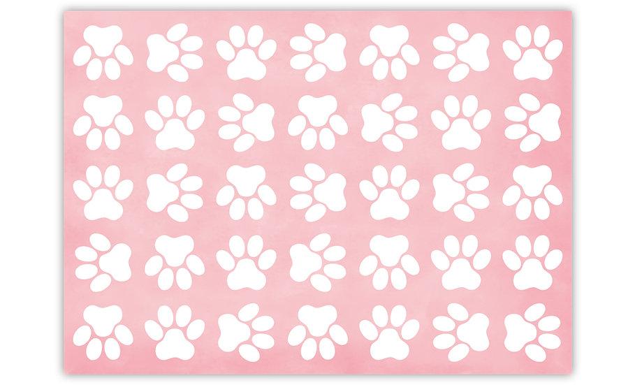 שטיח לחיות מחמד כפות רגליים ורוד - במגוון מידות