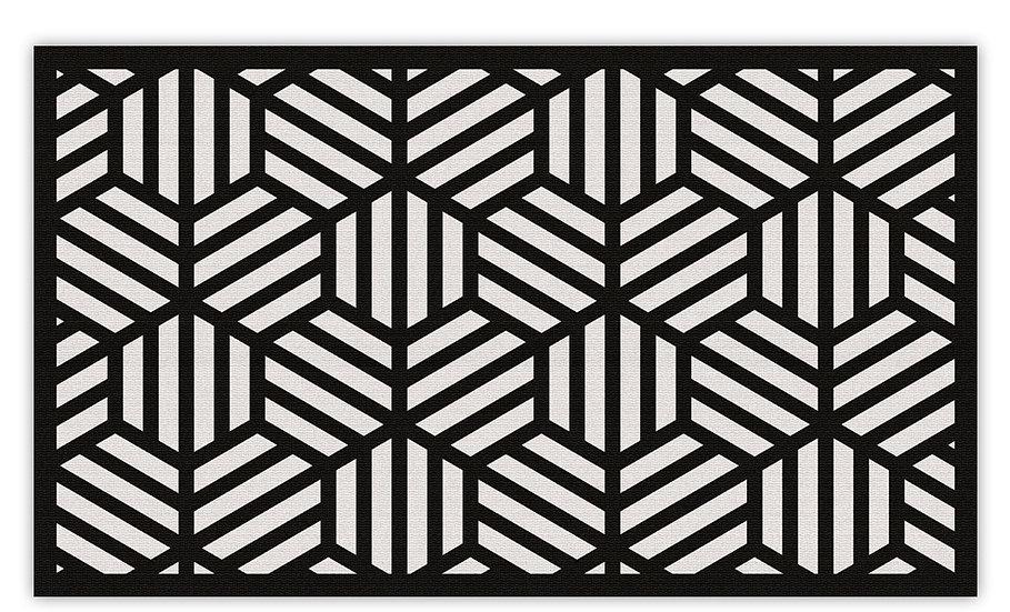 Soho - Vinyl Floor Mat - Black graphic pattern