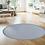 Thumbnail: Round Margo - Vinyl Floor Mat - Blue graphic pattern