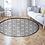 Thumbnail: Round Tangier - Vinyl Floor Mat - Black Moroccan tiles pattern