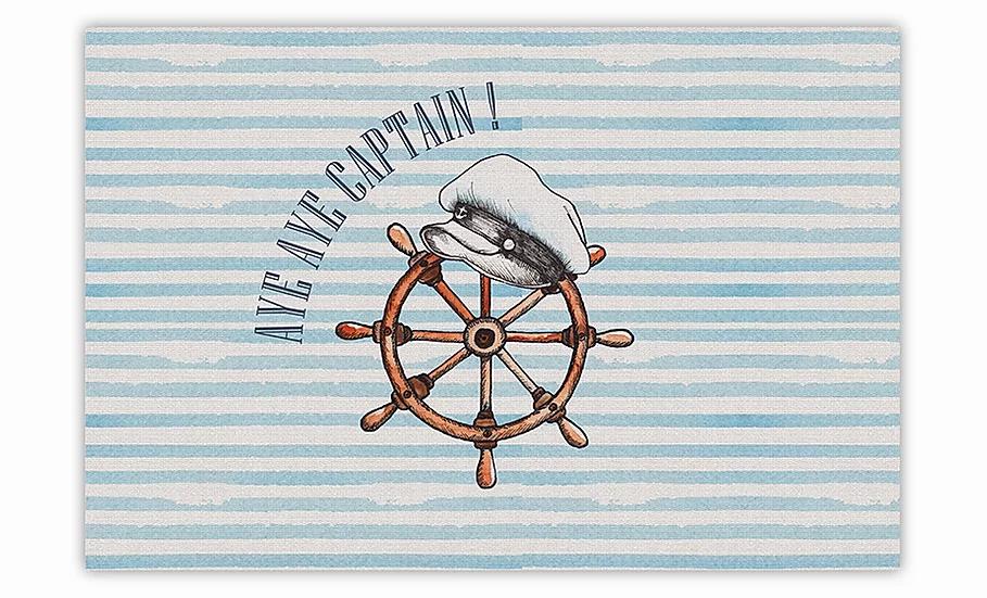 Captain - Vinyl Floor Mat - Marine theme
