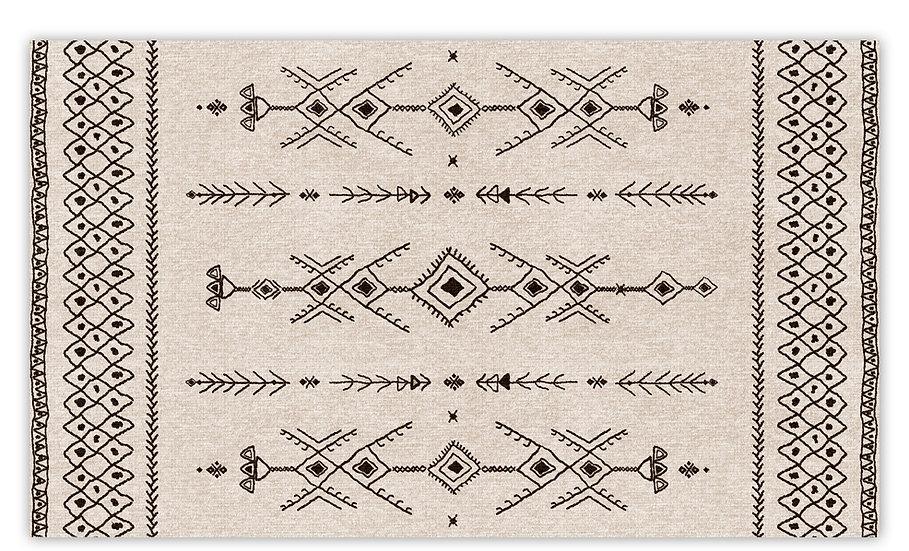 Tenerife - Vinyl Floor Mat - Beige ethnic pattern