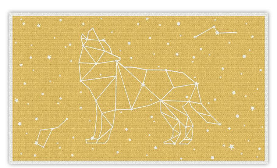פיויסי זאב כוכבים צהוב לילדים - במגוון מידות