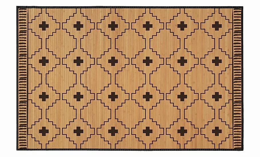 Ginger - Bamboo Mat - Natural ethnic pattern