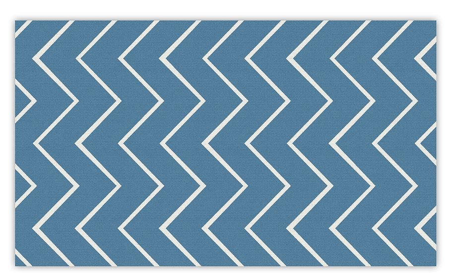 שטיח פעילות זיגזג כחול לילדים - במגוון מידות