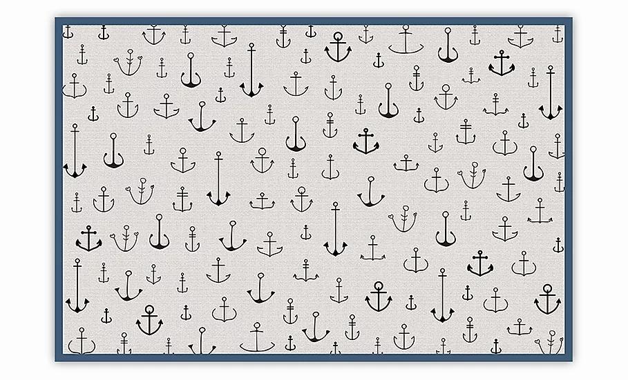 Anchors - Vinyl Floor Mat - Marine theme pattern