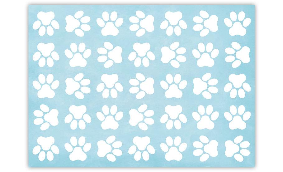 שטיח לחיות מחמד כפות רגליים תכלת - במגוון מידות