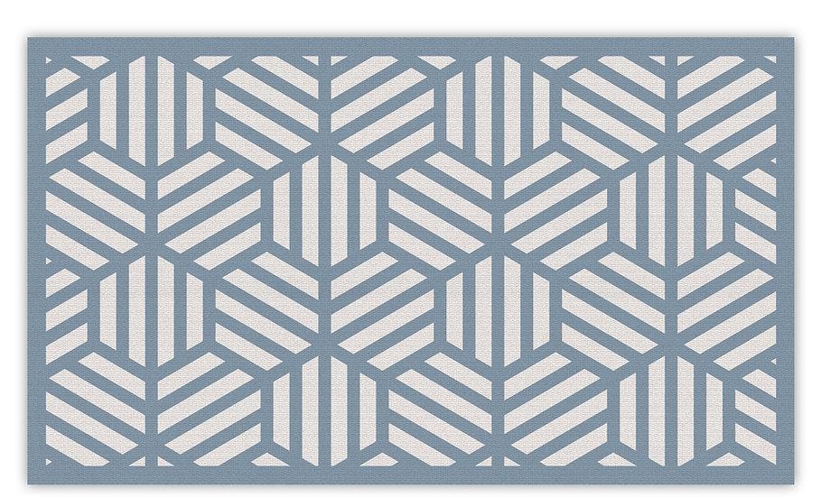 Soho - Vinyl Floor Mat - Blue graphic pattern