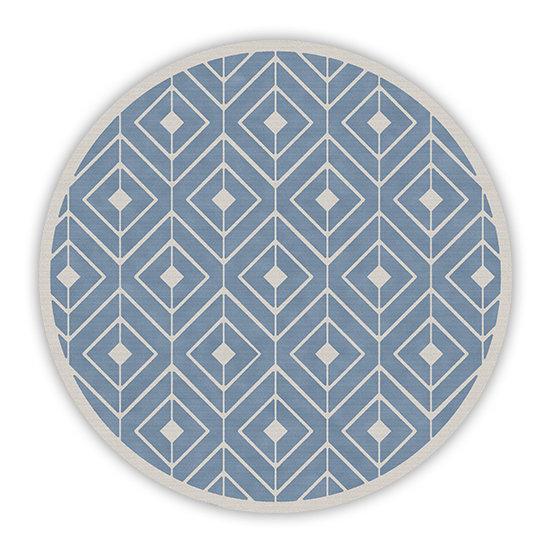 פיויסי עגול קאיה כחול מלא - במגוון מידות
