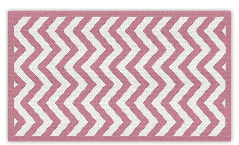 Alex - Vinyl Floor Mat - Pink graphic pattern