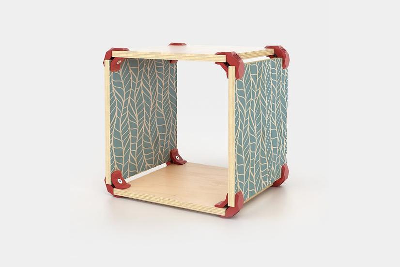 כוורת מודולארית מודפסת - דגם קיוב עלים טורקיז