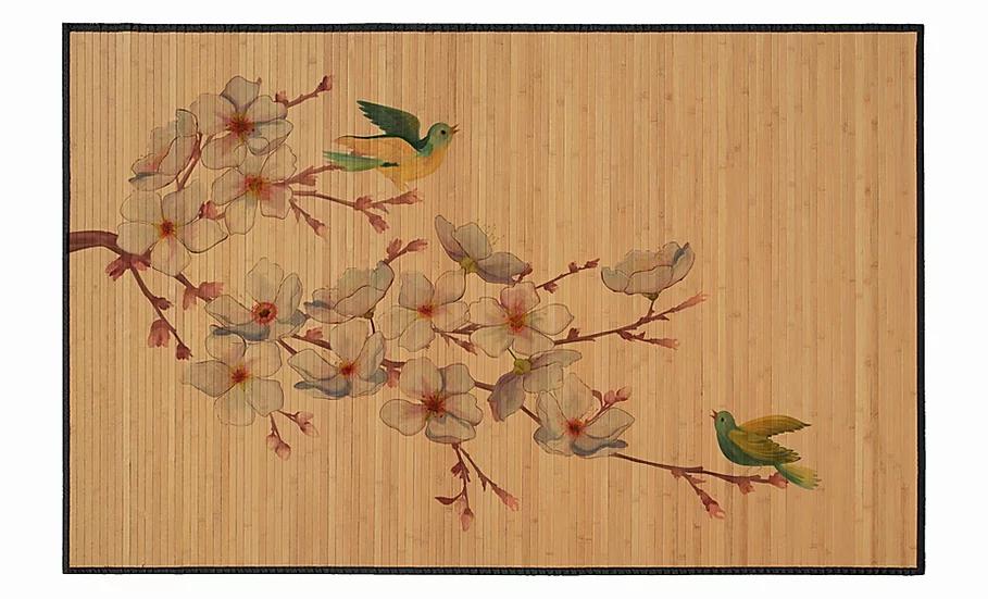 Birds - Bamboo Mat - Natural zoological pattern