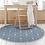 Thumbnail: Round Kaya - Vinyl Floor Mat - Filled blue graphic pattern