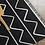 Thumbnail: Zigzag - Vinyl Floor Mat - Black graphic pattern