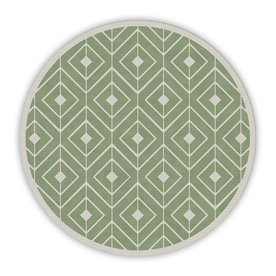 פיויסי עגול קאיה ירוק מלא - במגוון מידות