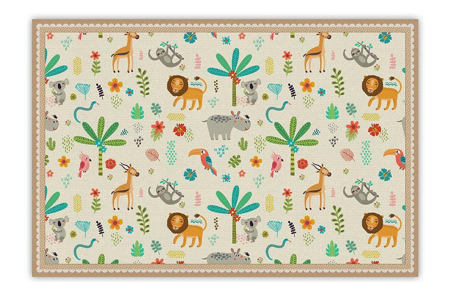 שטיח פעילות ג'ונגל בז' - במגוון מידות