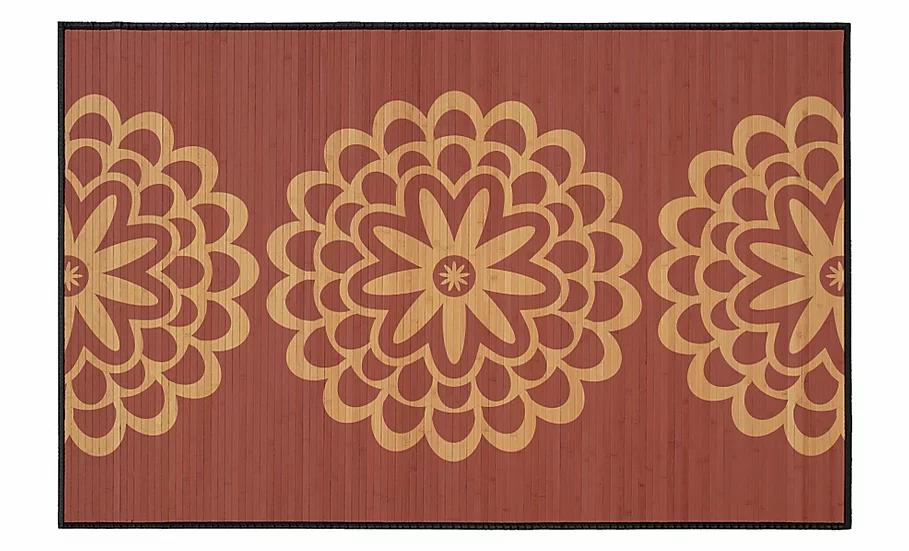 Pimpernels - Bamboo Mat - Bordeaux botanical pattern