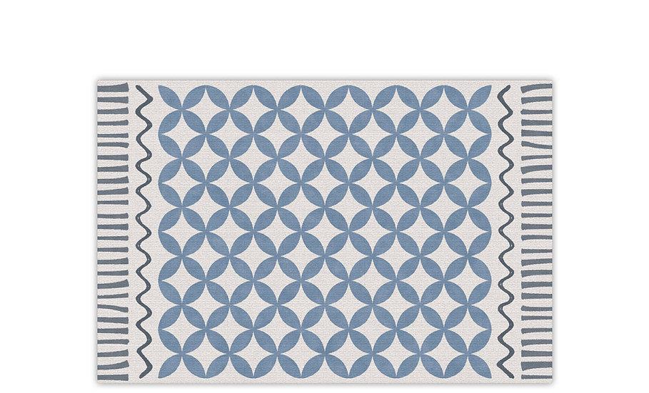Venus - Vinyl Table Placemat - Blue graphic pattern