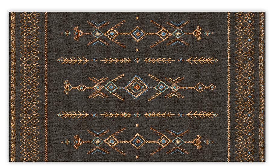 Tenerife - Vinyl Floor Mat - Brown ethnic pattern