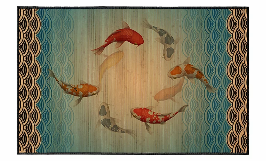 Koi - Bamboo Mat - Natural zoological pattern