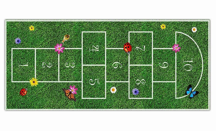 Hopscotch - Vinyl Floor Mat - Playful theme