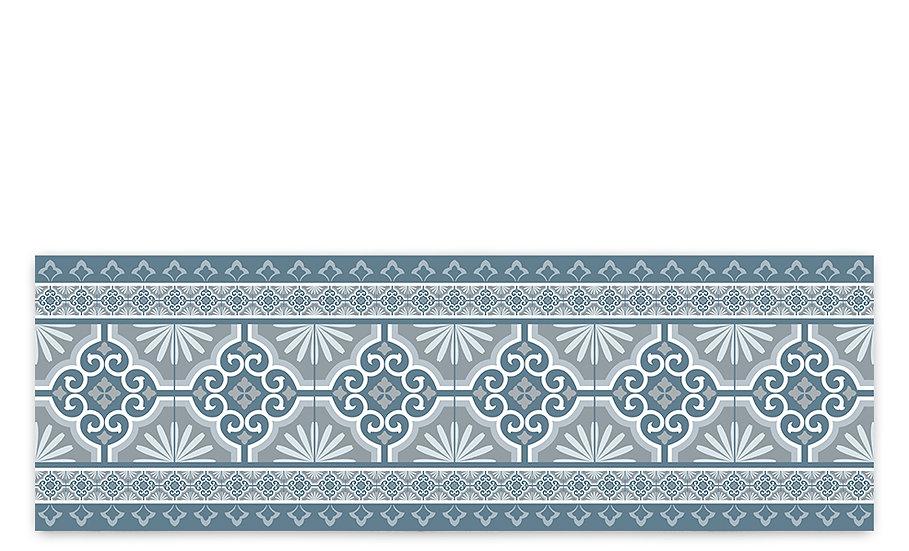 Tile - Vinyl Table Runner - Blue Spanish tiles