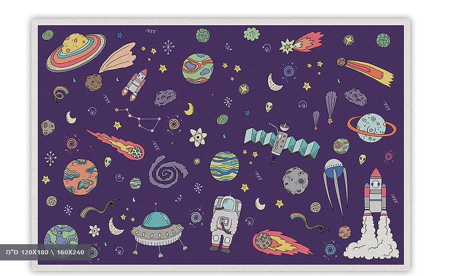 שטיח פעילות חלל סגול - במגוון מידות