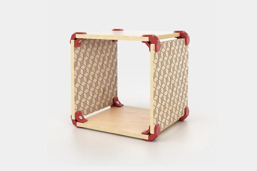 כוורת מודולארית מודפסת - דגם קיוב רטרו תלת מימד