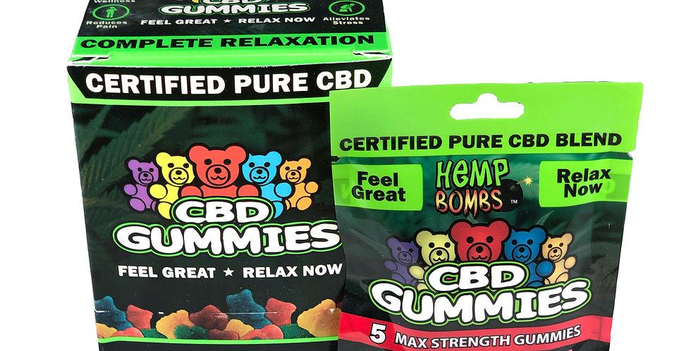 (Case of 12) CBD Gummies 5-count (75 MG)